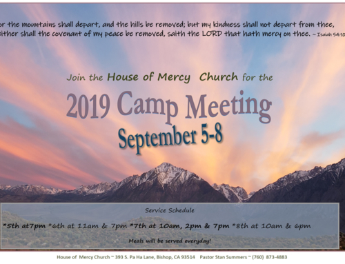 2019 Camp Meeting – September 5 – 8
